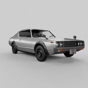 1973 Nissan Skyline 2000GT-R KPGC110 3D model