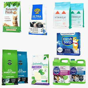 Pet Litter 10 in 1 Collection 3D
