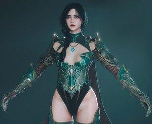 Assasin Girl 3D model