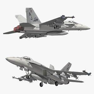 F18 Super Hornet TOMCATTERS 3D model