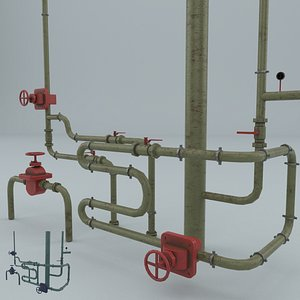 3D industrial pipes gauges