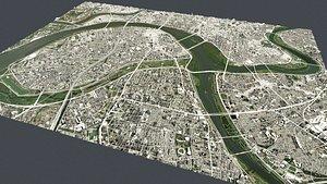 3D model Cityscape Taipei Taiwan