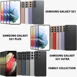 3D realistic samsung galaxy s21