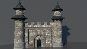 3D castle gate