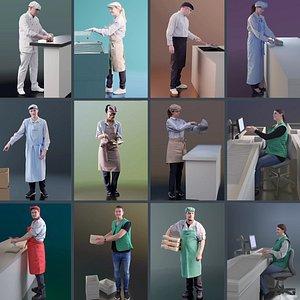 worker people 3D model
