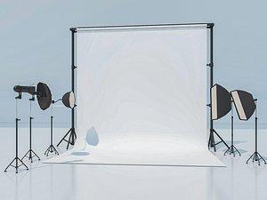 studio photography light model