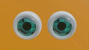 3D eyes eyeball model