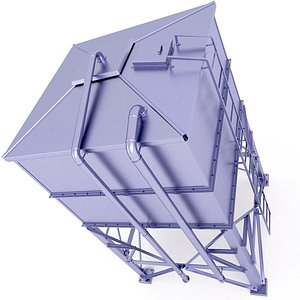Container Silo Storage 19 3D model