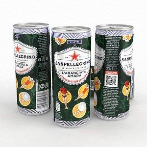 3D Beverage Can Sanpellegrino Laranciata Amara 330ml 2021 model