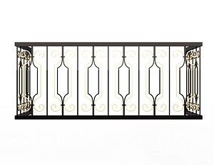 Forging Iron Forged Balcony Railing Baroque Classic 02