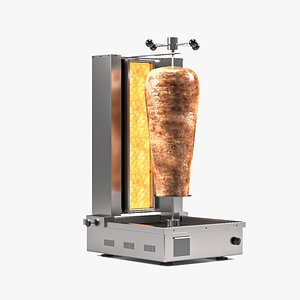 3D model turkish doner kebap machine
