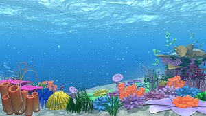 3D animation location water