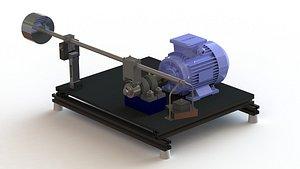 Abrasion Friction Tester 3D model