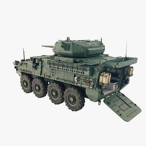 3D Stryker M1296 Dragoon model