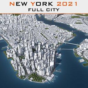3d model new york cityscape