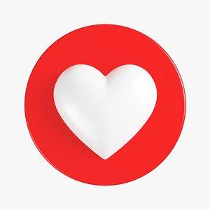 3D model Like Heart 01