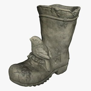 3D model boot concrete