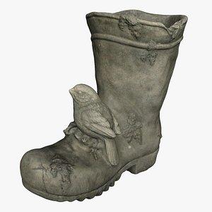 3D model boot concrete
