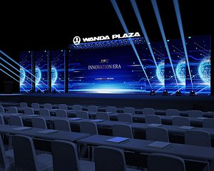 Stage truss meeting hall event T station show concert 3D model