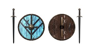 3D Lagertha Sword and Shield