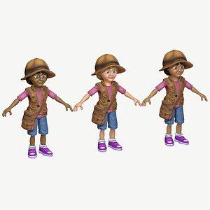 child girl exploring 3D