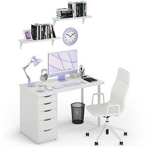 Workplace iMac Purple 3D model