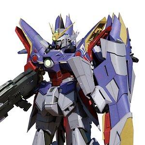 3D xxxg-00w0 wing gundam zero