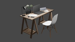 3D desktop furniture