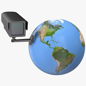 earth stylized security camera 3D model