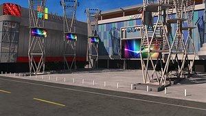 3D LA Live X Box Plaza