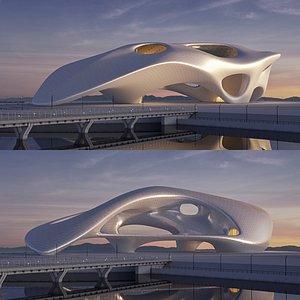 Futuristicbuildingcollection4x9 3D model