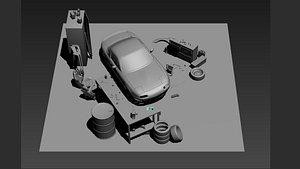 MX5 Garage Workshop 3D model