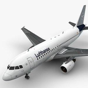 3D model Airbus A319-100 LUFTHANSA L1380