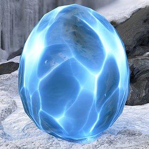 3D model handpainted dragon egg -