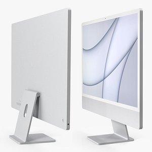 Apple iMac 2021 Silver 3D model