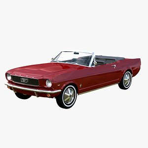 3D Ford Mustang 1966 Convertible