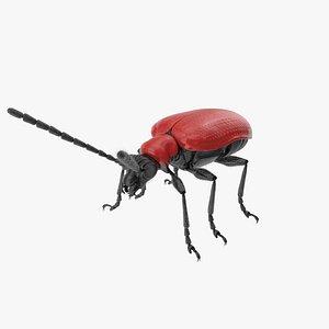 Scarlet lily beetle 3D model