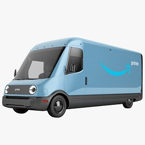 3D Amazon Electric Delivery Van