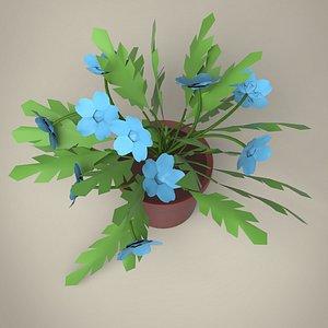 3D Cartoon Plant model