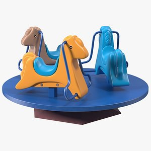 3D Small Merry Go Round Carousel