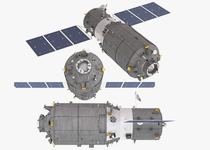 cargo spacecraft tianzhou-1 3D model