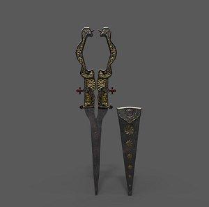 Medieval Fancy Scissors 3D model