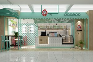 3D model Mediterranean Style Milk Tea Shop