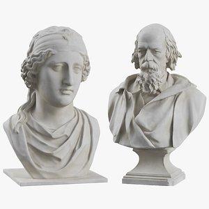 3D model sculptures bust aphrodite tennyson