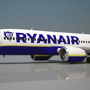 ryanair 737 200 3D model