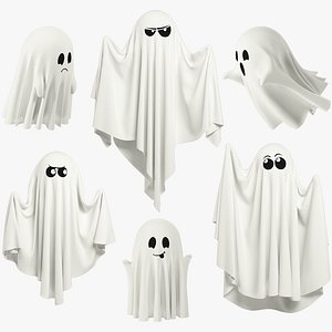 3D Funny Ghosts Collection V5 model