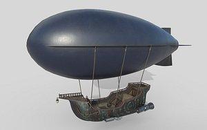 3D Sci-Fi Airship model