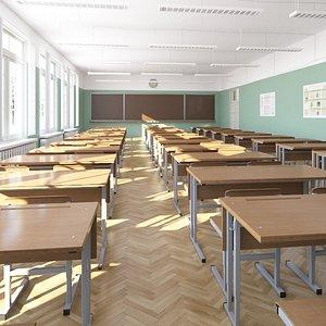 3D class classroom