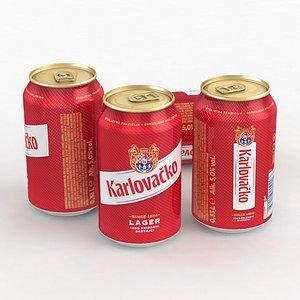 3D Beer Can Karlovacko Lager 330ml 2021 model