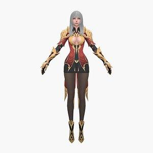 fantasy woman 3D model